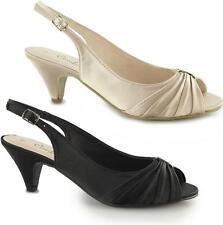 Comfort Plus TESS Ladies Women Formal Party Wide E Fit Slingback Satin Shoes