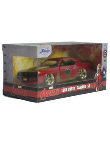 Jada Toys Die-Cast Metal 1969 Chevy Camaro Iron Man Model Car Marvel 1/32 Scale