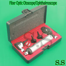 Professional Fiber Optic Otoscope/Ophthalmoscope ENT Diagnostic Set+2 EXTRA BULB