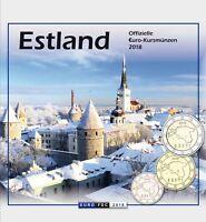 Estland 1 Cent bis 2 Euro 2018 KMS Sondersatz im Folder