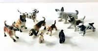 Vintage Miniature Bone China Ceramic Dog Puppy Figurines Lot of 10 Japan Brinn
