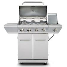 4 Burner Propane Gas Grill In Stainless Steel with Side Burner Bbq *NO TAX*