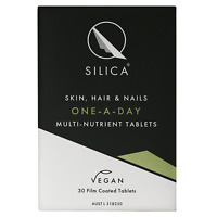 QSilica Skin Hair and Nail ONE-A-DAY (30 Tablets) VEGAN Silica Micronutrient