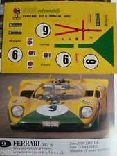 DECALS KIT 1/43 FERRARI 512S 1000 KM PARIGI 1970 DECALS 1/43