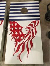 "American eagle Flag Hood Decal large 24"" vinyl graphic USA fits jeep truck car"
