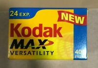 Kodak Max Versatility 400 Film 24 Exposures 35mm Color 1 Sealed Roll New Expired