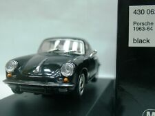 WOW EXTREMELY RARE Porsche 356 C Carrera 2 Coupe 1964 Black 1:43 Minichamps 911