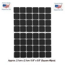 "48PCS 0.8"" Square Self Adhesive Furniture Leg Non Slip Rug Felt Pads Mat Black"