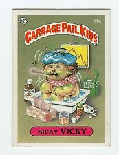 Sicky Vicky 1985 Garbage Pail Kids (GPK) Mini Card #21b