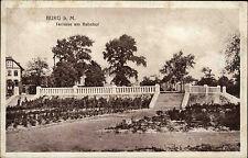 1918 Stempel Uchtspringe auf Feldpostkarte BURG Partie am Bahnhof n/ Neumünster