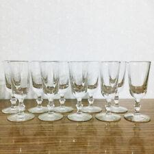 Cordial Aperitif Shot Glasses Lot 10 Footed Knob Stem Port Liqueur Vintage Mcm