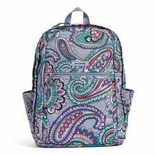 New Vera Bradley Lighten Up Grand Backpack Kona Paisley Water Repellant