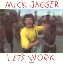 "Mick Jagger 7"" Let's Work - Europe"