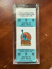 1996 NCAA FINAL FOUR SEMIFINALS AND CHAMPIONSHIP MEADOWLANDS SOUVENIR TICKETS