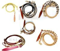 Hand Braided Rawhide Show Romel Romal Reins Horse tack Set of 6 Different Pcs