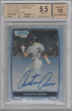 Austin Aune 2012 Topps Bowman Chrome rookie RC card graded Beckett 9.5/10
