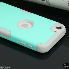 NEW for iPod Touch 5th/6th Gen Heavy Duty Armor Hard&Soft Rubber Hybrid Case