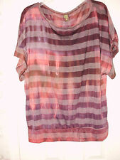 24/7 COMFORT APPAREL PLUS SIZE WOMEN'S PRINTED BANDED DOLMAN TOP, STRIPED TOP