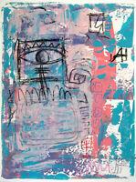 Dipinto firmato a mano tecnica mista acrilico olio su cartoncino, Stefano Fiore