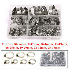 60Pcs/Set Stainless Steel Hose Pipe Hoop Strong Hose Clamps Wire Assorted Kit