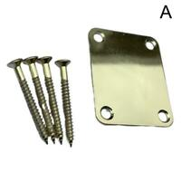 1 Set Chrome Neck Plate W/Screw For Fender Start Tele Parts Guitar 3 Colors K1Y2