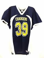Chargers Men's Football Jersey Home Riddell Navy Blue White Yellow #39 Size M