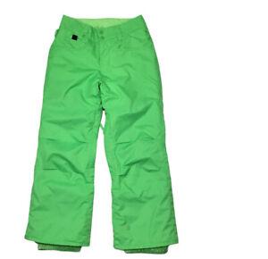 Quiksilver Dry Flight 10K Snow Pants Green Youth Size S 10 EQBTP00012-GLQ0