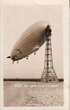 Original RPPC Real Photo Postcard Navy ZR-3 USS LOS ANGELES ZEPPELIN AIRSHIP 8