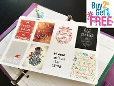 PP163 -- Winter Inspirational Quoes Planner Stickers for Erin Condren (8pcs)