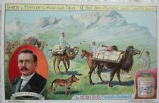Set of 6 Liebig Co. Fleisch Extract Victorian trade cards - Sven Hedin Tibet