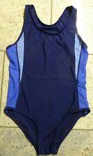 Blauer hochgeschnittener  Badeanzug Schwimmanzug in der S