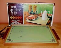 Vintage Cornwall Hot Electric Tray Avocado Model 1418 with Original Box