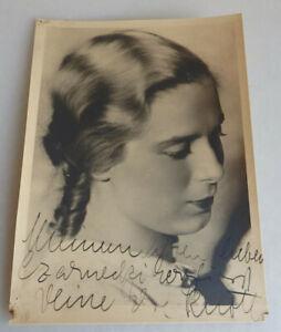 Groß Foto-Autogramm Else Knott deutsche Schauspielerin 1935 (74855)