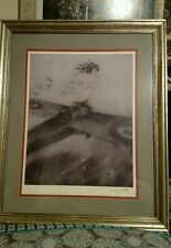"Louis Icart fine print ""Over The Wings"" framed and matted"