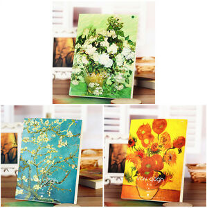 B5 Sketch Book VAN GOGH Painting Cover 100gsm White Drawing Paper 128 sheets PAD