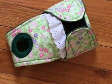 Female dog diaper-panties-QUILTED-Washable- SPRING FLOWERS by angelpuppi