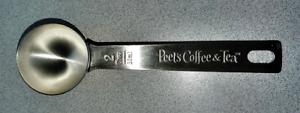NEW Peet's Coffee & Tea Stainless Steel Scoop, 2 Tbsp
