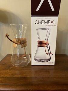 CHEMEX 3-CUP CM-1C COFEEMAKER: NEW IN BOX