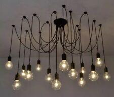 6 Arms DIY Ceiling Spider Lamp Light E26 Retro Chandelier Pendant Dining H4U0