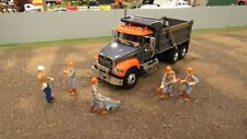 FIRST GEAR #60-0388 GREY ORANGE MACK GRANITE DUMP TRUCK OPENING HOOD/DOORS! 1:64