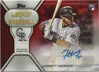 2019 Topps Update GARRETT HAMPSON Legacy of Baseball Auto RED 23/25 Rockies RC