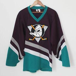 Anaheim Mighty Ducks Vintage Jersey Rare Mesh Men Small Made Canada NHL CCM