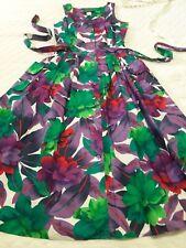 Lisa Ii Vintage 4 6 Nwot 50s Medium Floral Smocked Button Dress New Women