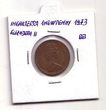 Inghilterra England   1 new penny 1973 Elizabeth II    BB    (m242)