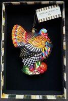 New Mackenzie Childs Glass Ornament - Turkey