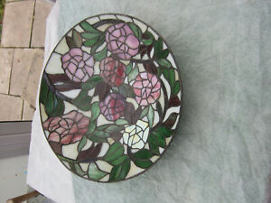 LARGE STAINED GLASS/ TIFFANY STYLE FRUIT BOWL