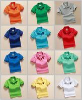 Children Clothing Boys kids Short-sleeved T-shirt School Uniforms POLO T-shirts