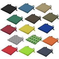 Waterproof Chair Seat Pads Outdoor Tie On Garden Patio Chair Cushions / Covers