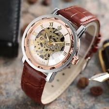 MG.ORKINA Skeleton Roman Number Men Hand-Winding Mechanical Wrist Watch Bracelet