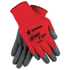 Memphis Ninja Flex Latex Coated Nylon Gloves, 12 Pair, Size: Medium (N9680-M)